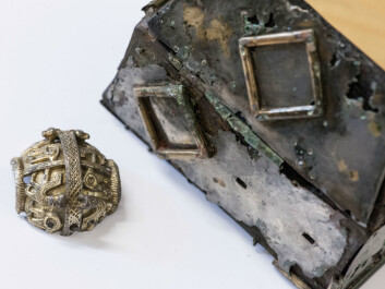 Artefacts from Viking graves, such as this gold piece from the British crozier and a reliquary, are among Norway's most important modern-day finds. (Photo: Åge Hojem/NTNU University Museum)