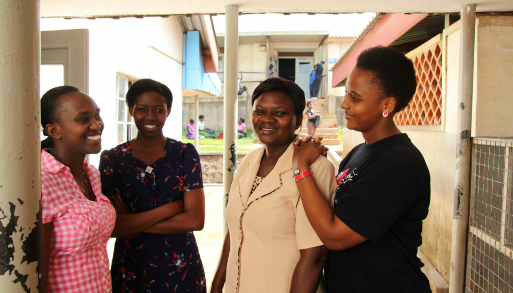 """We will go on to become leaders and policymakers,"" says Elizabeth Ayebare (left). Her view is backed by Mariam Namutebi, Olive Norah Nabacwa and Stella Mushy. (Photo: Runo Isaksen, SIU)"