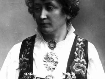 Hulda Garborg in her national costume, which she had made in 1898. (Photo: Norwegian Folk Museum)