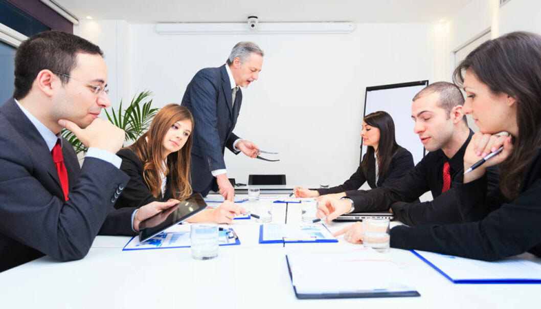 The rules for meetings on daily production are different from meetings about change, the study concluded. (Photo: Colourbox)