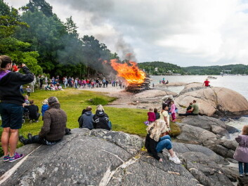 Bonfires have always been a part of Norwegian Midsummer celebrations. This is one of the few rituals that have survived. (Photo: Audun Braastad/NTB scanpix)