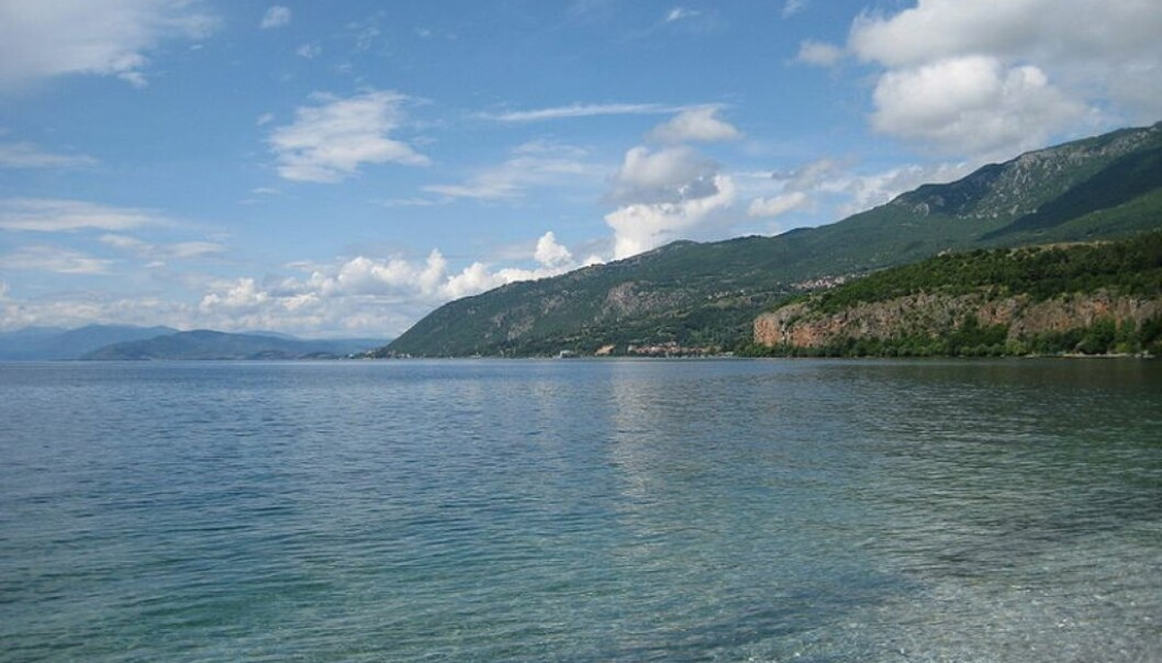 Two-thirds of Lake Ohrid is in Macedonia, the rest in Albania. Previously, biologists from the two respective countries worked in separate parts of the lake. (Photo: Wikipedia)