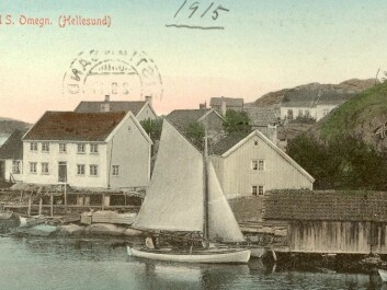 Ny Hellesund in South Norway was a coastal harbour spot which became a tourist magnet in the 1900s. (Photo: a postcard from ca. 1915)