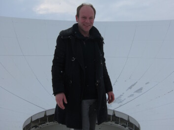 Music professor Øyvind Brandtsegg went to Svalbard to see the antennas there as part of his research for his installation for the Norwegian Mapping Authority. That was the start of a journey to the most powerful stars in the universe: quasars. (Photo: NTNU)