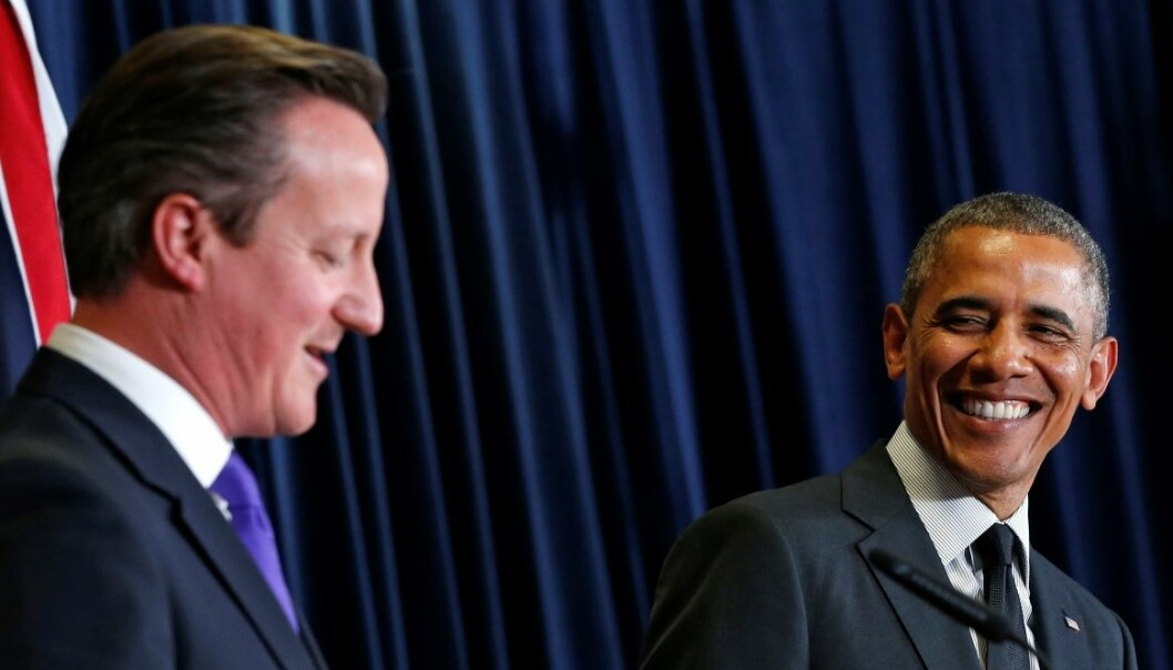 Here's David Cameron and Barack Obama together during the G7 meeting in Brussels in June this year. (Photo: Reuters)
