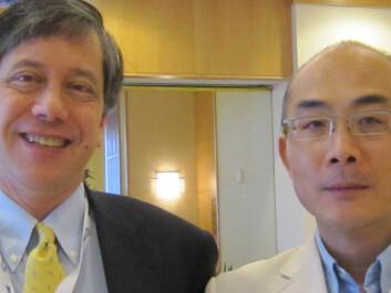 Professor Timothy Wang (left), Columbia University, and Professor Duan Chen, Norwegian University of Science and Technology (Photo: NTNU)