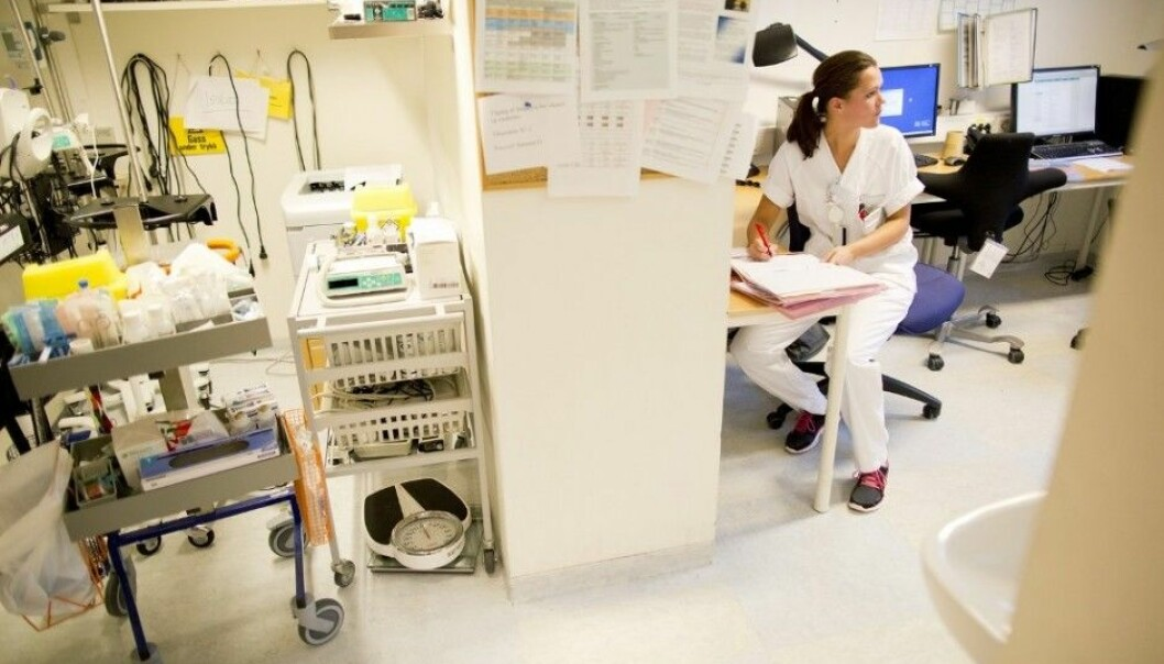 The desire to help others does not make nurses more involved in their job. (Illustrative photo: Tore Meek, NTB scanpix)