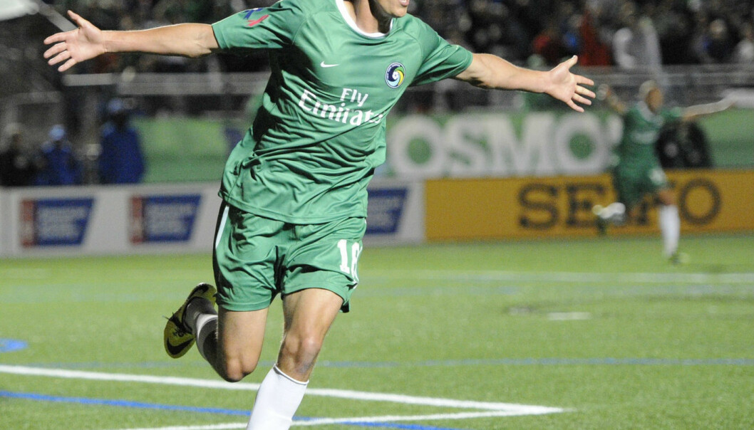 Mads Stokkelien, striker at New York Cosmos, changed his attitude towards heart screening after being informed of Moseby Berge's findings. (Photo: Kathleen Malone-Van Dyke, AP)