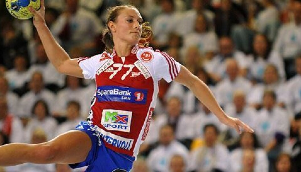 Camilla Herrem and the other women at Norway's national handball team is not seen as less tough than her male counterparts, shows new study. (Photo: Solfrid T. Nordbakk/Wikimedia Commons)