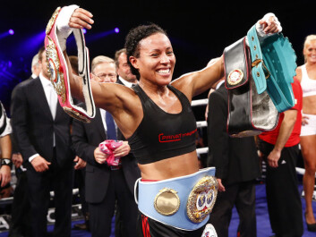 On September 13, 2014, boxer Cecilia Brækhus became the first woman to win four championship belts. (Photo: Heiko Junge / NTB scanpix)