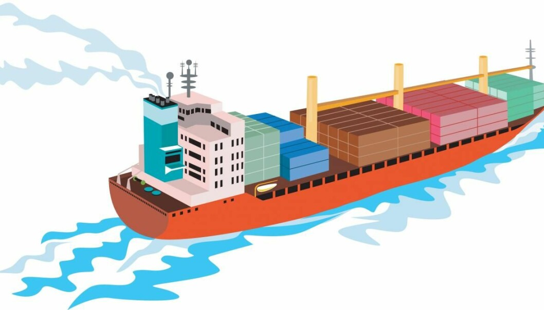 The shipping industry is currently dependent on fossil fuels. The aim of the new research project Maritime SHIFT is to develop new ship engines, based on renewable energy sources. (Photo: Colourbox)