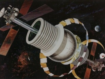 An artist's rendition of the Bernal Sphere. (Image: NASA Ames Research Center)