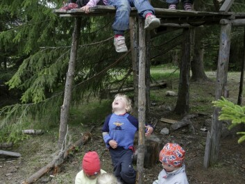 Playgrounds near a patch of woods or other natural settings are liked the most. (Photo: Pål Hermansen / NN / Samfoto)