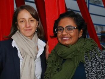 Professor Nathalie Reuter and Researcher Sandhya Tiwari of the Department of Molecular Biology at the University of Bergen (UiB). (Photo: Ingunn Halvorsen, University of Bergen)