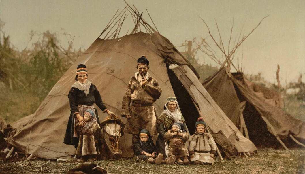 A Sami family, Nordland County, ca. 1900. (Photo: Photoglob AG Zürich/Wikimedia Commons)