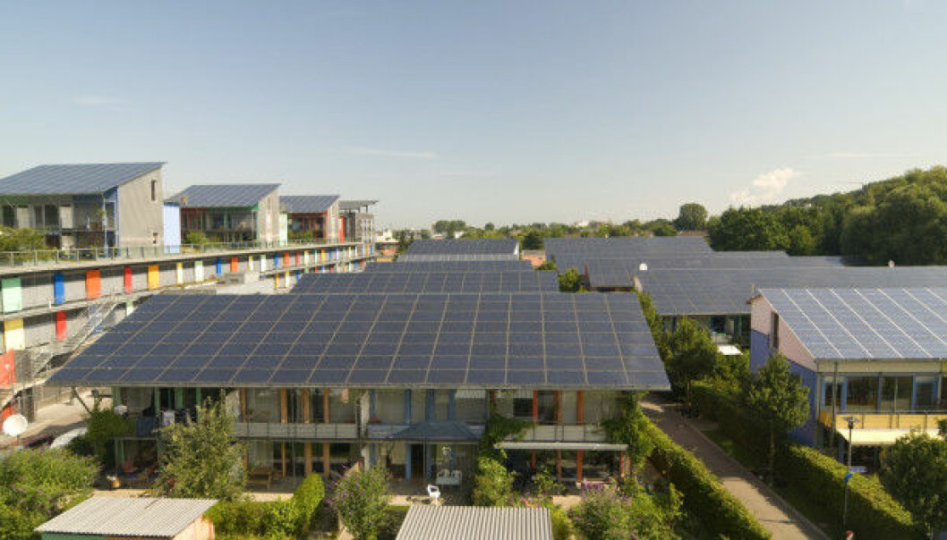 """Germany is making the transition to a green energy future in part by building """"solar colonies"""" like this, where residents generate their own electricity and sell the excess to the network. Jeremy Rifkin, president of The Foundation on Economic Trends, says more countries need to follow in their footsteps. (Photo: Thinkstock)"""