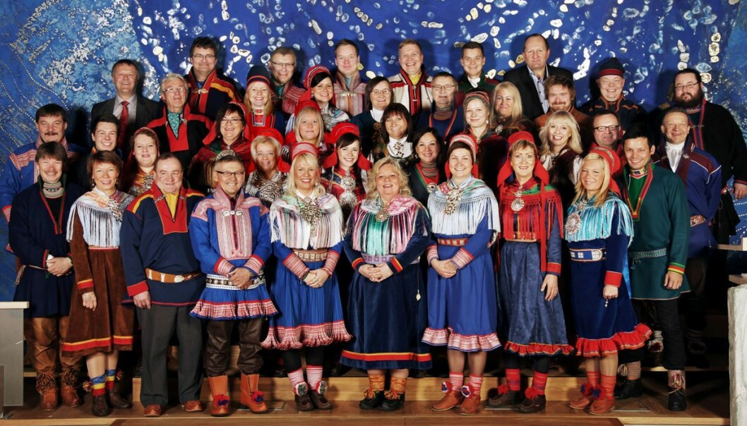 The plenary of the Sami Parliament of Norway. This is the representative body for people of Sami heritage in Norway. It was opened in 1989, and is situated in Karasjok, in the northern county Finnmark.  It has 39 representatives. (Photo: Sametinget)
