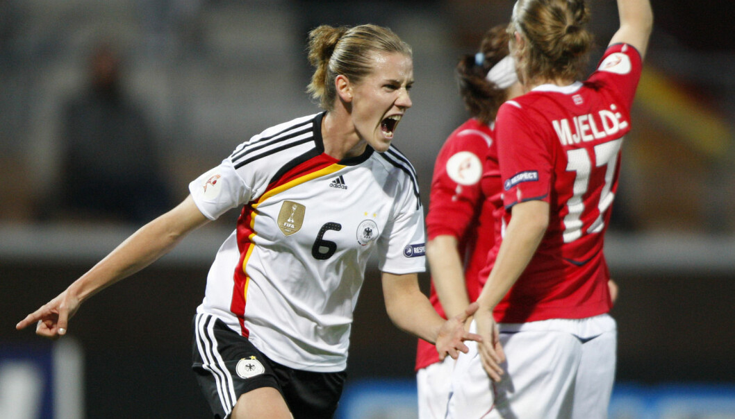While the women's national team perform well in international tournaments, the men's team rarely succeed. Still, men's football is considered highly superior, since women's football isn't proper football. Here, Norway plays Germany in the European Championship in Finland in 2009. (Photo: Matthias Schrader/AP)