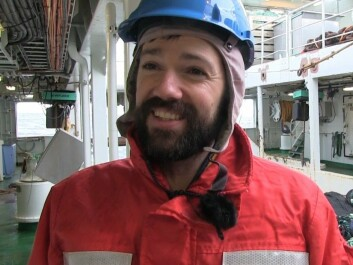 Shale Rosen from the Institute for Marine Research, who works with the Deep Vision system. (Photo: Lasse Biørnstad)