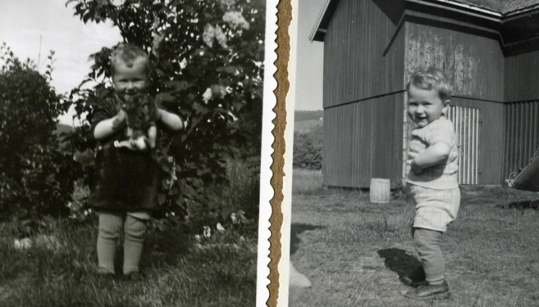 Arne Asphjell got a bad case of whooping cough as a baby. His mother feared he would die. But Arne survived. The pictures are from later in his childhood. (Photo: private)