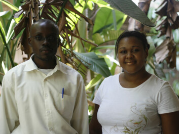 "As participants in a new programme, everything was new for first cohort student Mazuba Hamweene (left) and second cohort student Lumbuka Kuanda – the curriculum, the teaching and the research methods. ""I will fight and hope for the establishment of a neuropsychology unit in the police force,"" Hamweene says. (Photo: Susan Johnsen)"