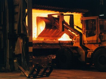 Recycling of aluminium scrap in Holmestrand Norway. (Photo: Norsk Hydro)