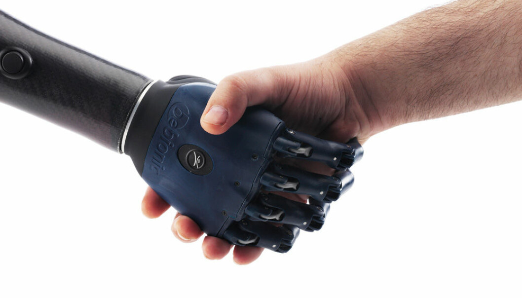 The concept of touch technology takes on a new meaning when it is used with prostheses. (Photo: Bebionics)