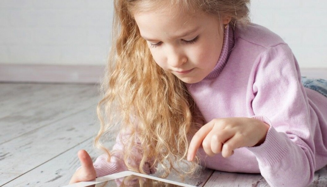 Children write much faster on tablets than they do with pen or pencil on paper. Their spelling abilities are equal, according to a recent Norwegian study. (Photo: Microstock)