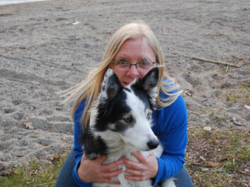 Behavioural consultant Gry Løberg, seen here with her own dog, says that owners need to find out the reason for bad behaviour before considering neutering or spaying. (Private photo)