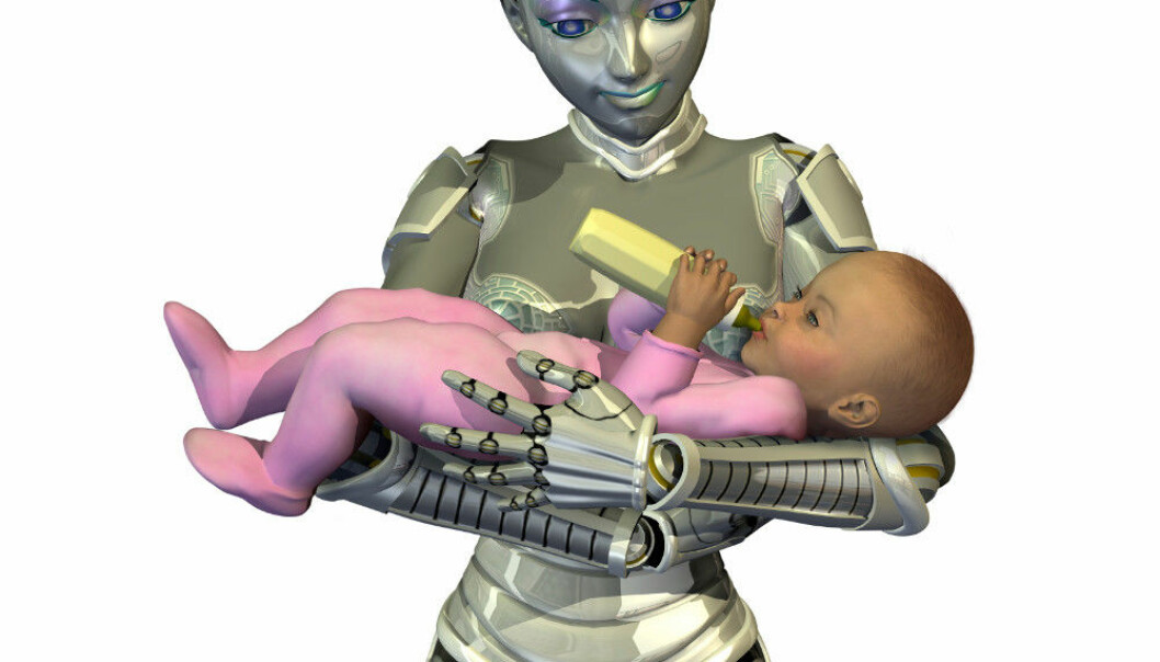 """ROBOT MUMMY """"I do not think that we have adequate diversity when it comes to understanding motherhood or fatherhood today. We need more discussion and openness here"""", maintains Hellstrand, who believes in a future with greater diversity regarding identity, particularly with regard to technological possibilities and social relations in our time. Photo: Linda Bucklin/iStock"""