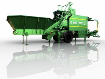 The machine developed by Orkel has the unique ability to compact and package a variety of bulk materials – everything from maize and chippings to cod heads, providing considerable environmental benefits and better use of resources. (Source: Orkel)