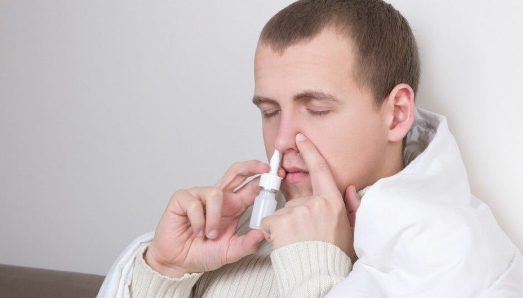 A classic spray for congested nasal passages. A future medication spray will be sniffed in a similar way, but will look different. (Photo: Colourbox)