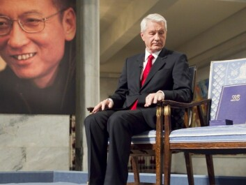In 2010 the Chinese dissident, Liu the Xiaobo, received Nobel Peace Prize. Xiaobo was represented by an empty chair at the podium during the ceremony, as he is imprisoned in China. Nobel Committee leader at that time, Thorbjorn Jagland, had to endure a lot of criticism for awarding, since many believed it would harm the relations between Norway and China. (Foto: Heiko Junge, NTB scanpix)