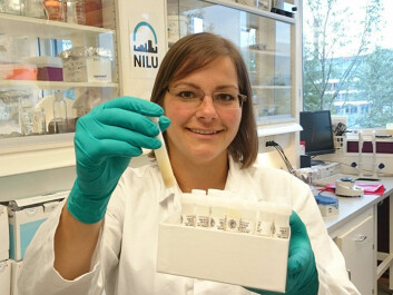 Postdoc Therese Haugdahl Nøst, NILU. (Photo: Linda Hanssen, NILU)