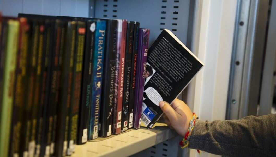 A lot of people who visit libraries don't check out anything. They use the library as a meeting place and cultural venue. (Photo: William Stokstad / TT)