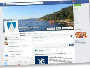 Both the Nesodden municipality administration and the mayor use Facebook to keep in touch with the people, find out their concerns and gather ideas for issues that later can be addressed politically. (Screenshot: forskning.no)