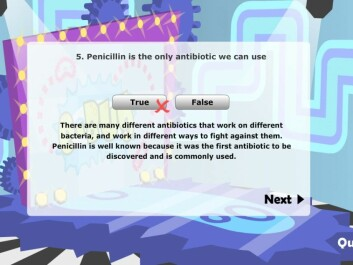 The interactive learning game e-Bug has been used in many European countries struggling with antibiotic resistance. It has now been translated into Norwegian to teach the country's children and young adults about antibiotic use. (Photo: e-Bug)