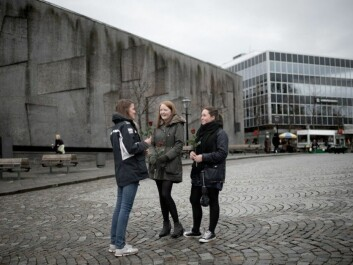 Stavanger was one of the communities that voted in many young candidates in 2011. In this 2012 photo three Stavanger youth are protesting Anders Behring Breivik's terrorist acts and views. (Photo: Tommy Ellingsen, NTB scanpix)