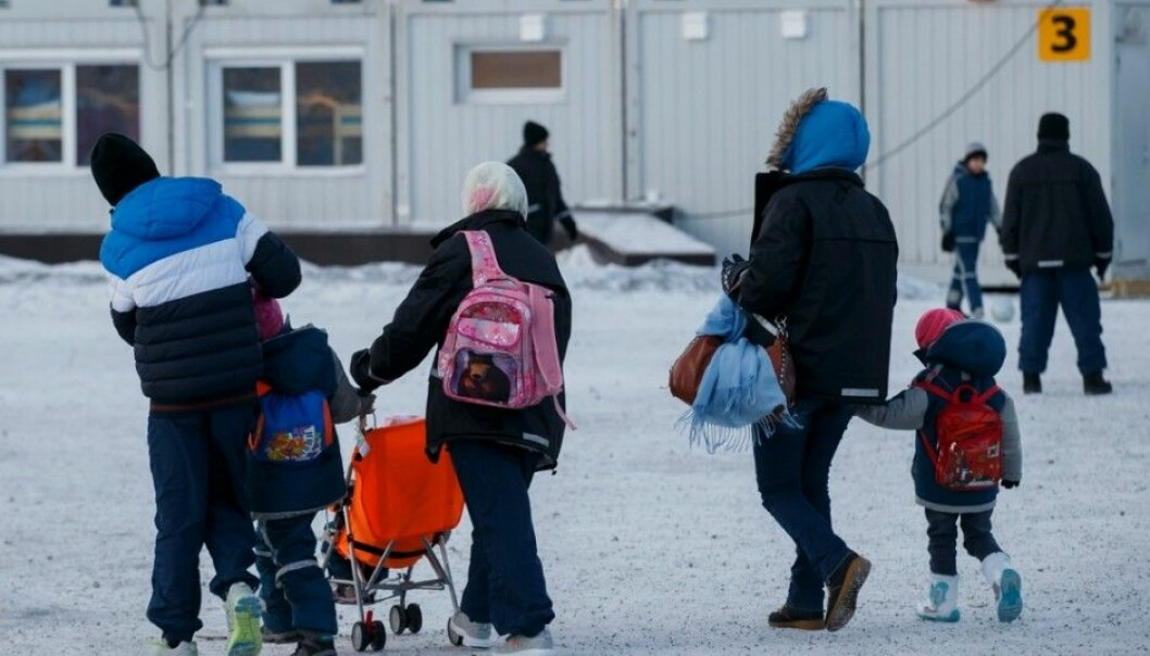 Asylum seekers at the reception centre for refugees in Kirkenes, near Norway's border with Russia in the north. Many of these newcomers have experienced battle and need to be followed up psychologically. Research shows that the refugees are not given the psychological assistance many of them desperately need. (Photo: Cornelius Poppe, Scanpix)