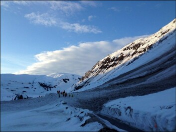 View of the avalanches from the road. (Photo: NPRA)