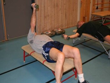 Strength training is effective, also for those who have passed 65 years. (Photo: Hilde Lohne-Seiler)