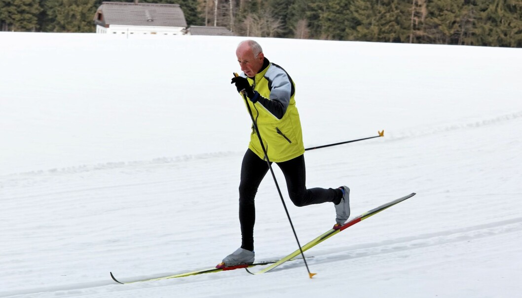Cross-country skiing is a technical display of balanced forces. (Photo: Colourbox)
