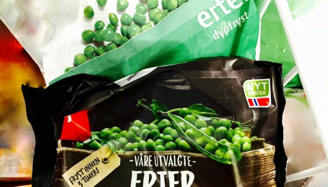 Two different bags of frozen peas can be priced quite disparately. This reflects their quality, says a researcher who has given the subject of green peas a thorough perusal. (Photo: Bård Amundsen/forskning.no)