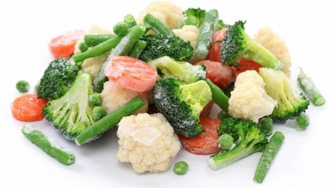 Some people are embarrassed to cook with frozen vegetables. Now, food scientists want you to know that frozen vegetables are a good, healthy option and are also environmentally friendly. (Photo: bonchan/Shutterstock/NTB scanpix)