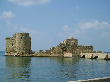 A coastal fort in Sidon that was established by Crusaders. The fort was built long after Sigurd was there in 1228. (Photo: Heretiq)