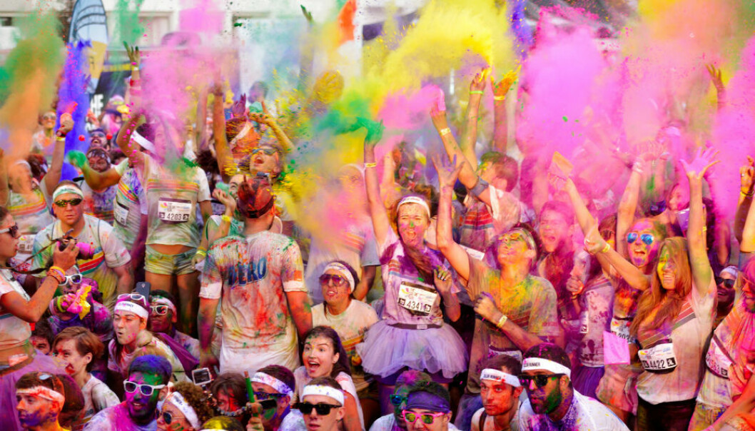 Participants from Romania's Color Run - a celebration of health and delight in fitness. (Photo: aaltair / Shutterstock / NTB scanpix)
