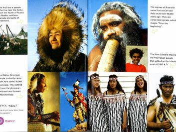 Here's what the world's indigenous people look like, according to the textbook New Flight. (Facsimile from New Flight 2, Cappelen Damm Undervisning)