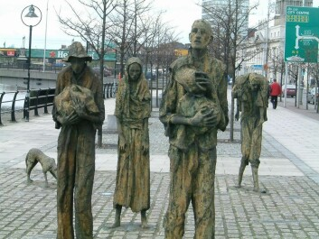The Potato Famine changed Ireland and the United States, too. The picture shows a Dublin monument to everyone who was forced to leave the country because of the famine. (Photo: AlanMc/wikimedia commons.)