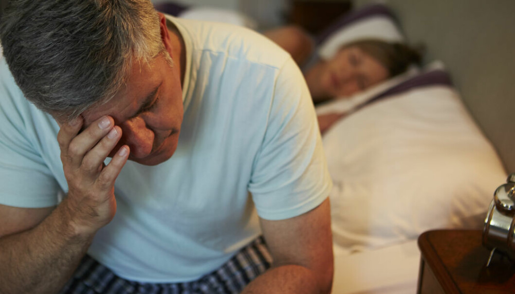 Sleepless nights? Fortunately, they aren't necessarily linked to a risk of heart failure. (Illustrative photo: Colourbox.)