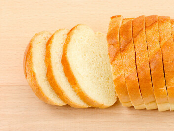 Unfortunately, white bread won't give the same apparent health benefits that whole grain bread does. (Photo: Colourbox)